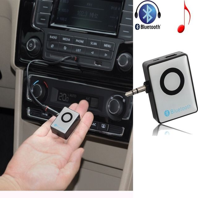 3.5mm Bluetooth Audio Stereo Receiver Car Music Adapter For Samsung Galaxy S5 S4 Note 4 3 HTC