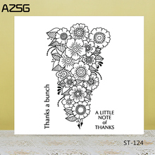 AZSG Beautiful Bunch of Flowers Clear Stamps/Seals For DIY Scrapbooking/Card Making/Album Decorative Silicone Stamp Crafts