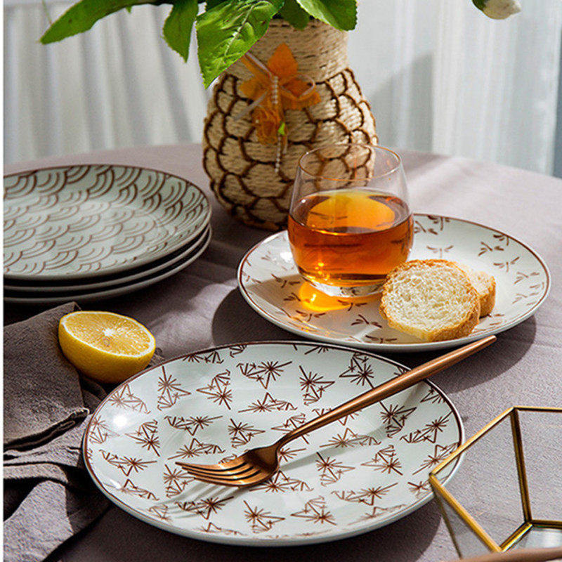 Minimalist Design Special 8inch Dishes Crreative Ceramic Dinner Plates Salad Fruit Plate Tray Household Tableware Dishes 060-in Dishes \u0026 Plates from Home ... & Minimalist Design Special 8inch Dishes Crreative Ceramic Dinner ...