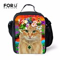 New Thermal Insulated Lunch Bag for Kid Cute Cat Child Lunchbox Portable Cooler Picnic Food Bags girls Lunch Storage Lancheira