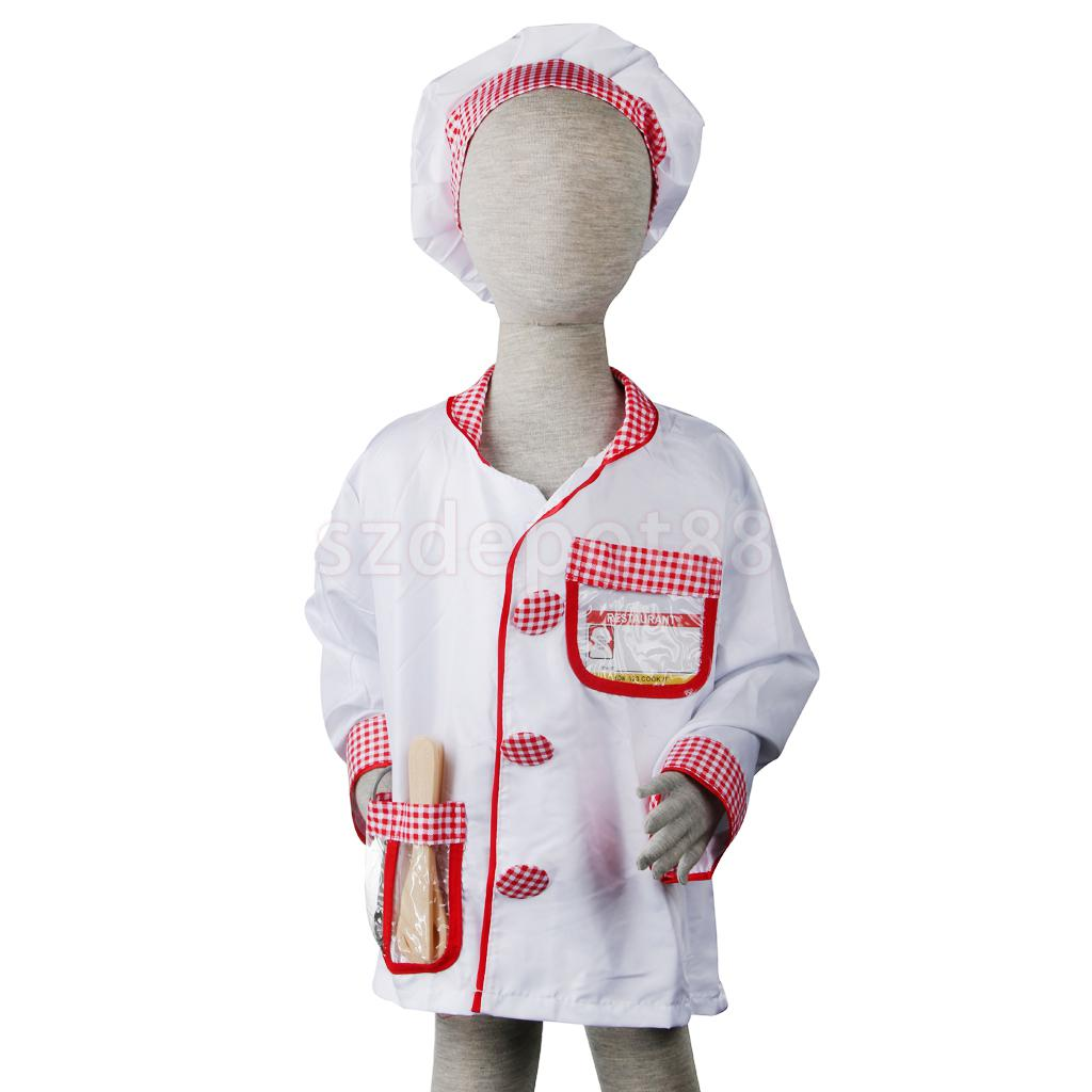 Kids Chef Costume Halloween Party Costume Fancy Dress Role Play Toy Chidren