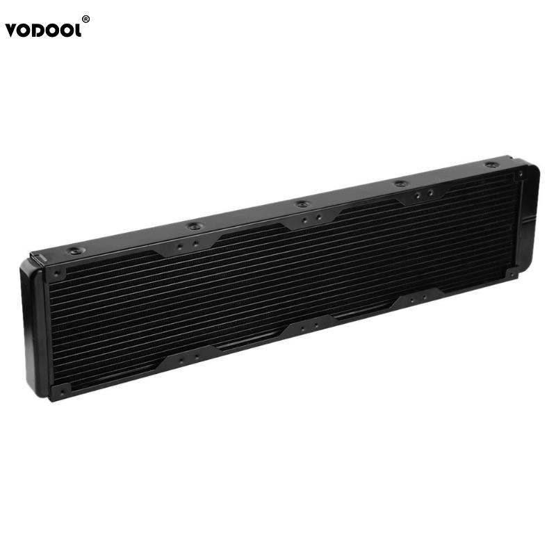 VODOOL 480mm 18 Tubes Computer PC Water Cooling System Water Discharge PC CPU Liquid Water Straight Threaded Heat Sink RadiatorVODOOL 480mm 18 Tubes Computer PC Water Cooling System Water Discharge PC CPU Liquid Water Straight Threaded Heat Sink Radiator