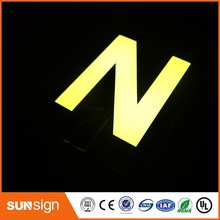 Brand stores advertising mirror stainless steel acrylic LED channel letter