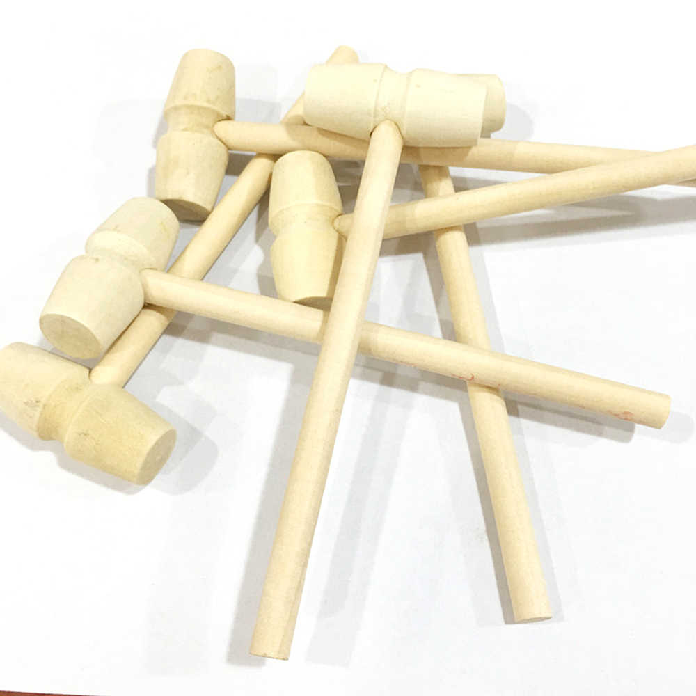 2pcs/lot Baby toys Pretend Play Tool Wooden Knocks pillar Platform wood toys Hammering Children Early Learning Educational Toy