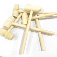2pcs/lot Baby toys Pretend Play Tool Wooden Knocks pillar Platform wood toys Hammering Children Early Learning Educational Toy(China)