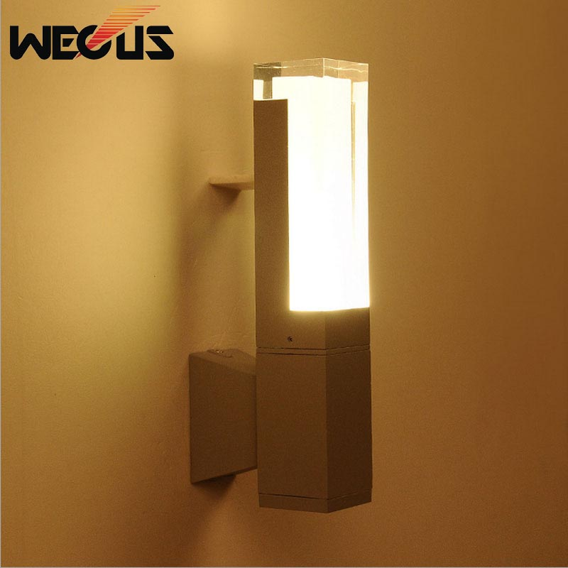 Owl Outdoor Led Wall Pack: Europe Outdoor Lighting Waterproof White /gray Wall Lamp
