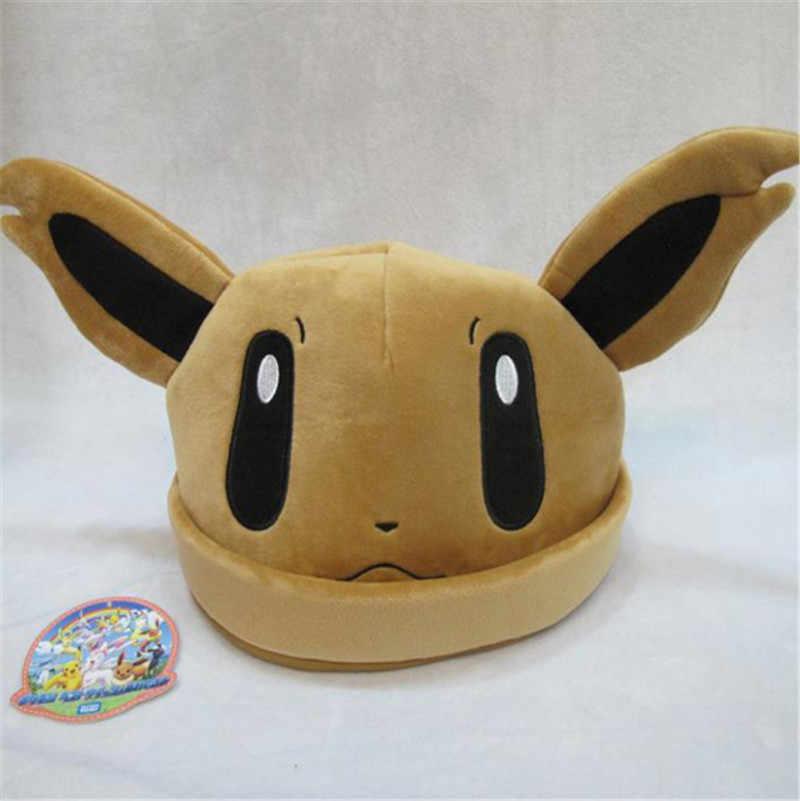 d4d376ff4aa ... New Hot Pokemon Go Eevee Umbreon Sylveon Snorlax Cute fashion keep warm  Soft Plush Costume Hat ...