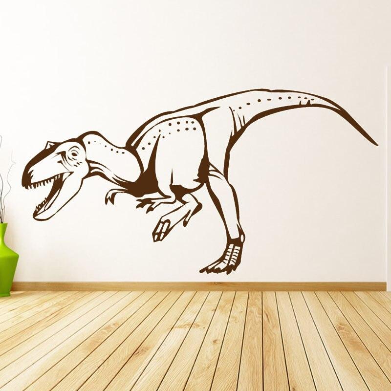 dctop abrir la boca dinosaurio trex tatuajes de pared de vinilo removible home decor