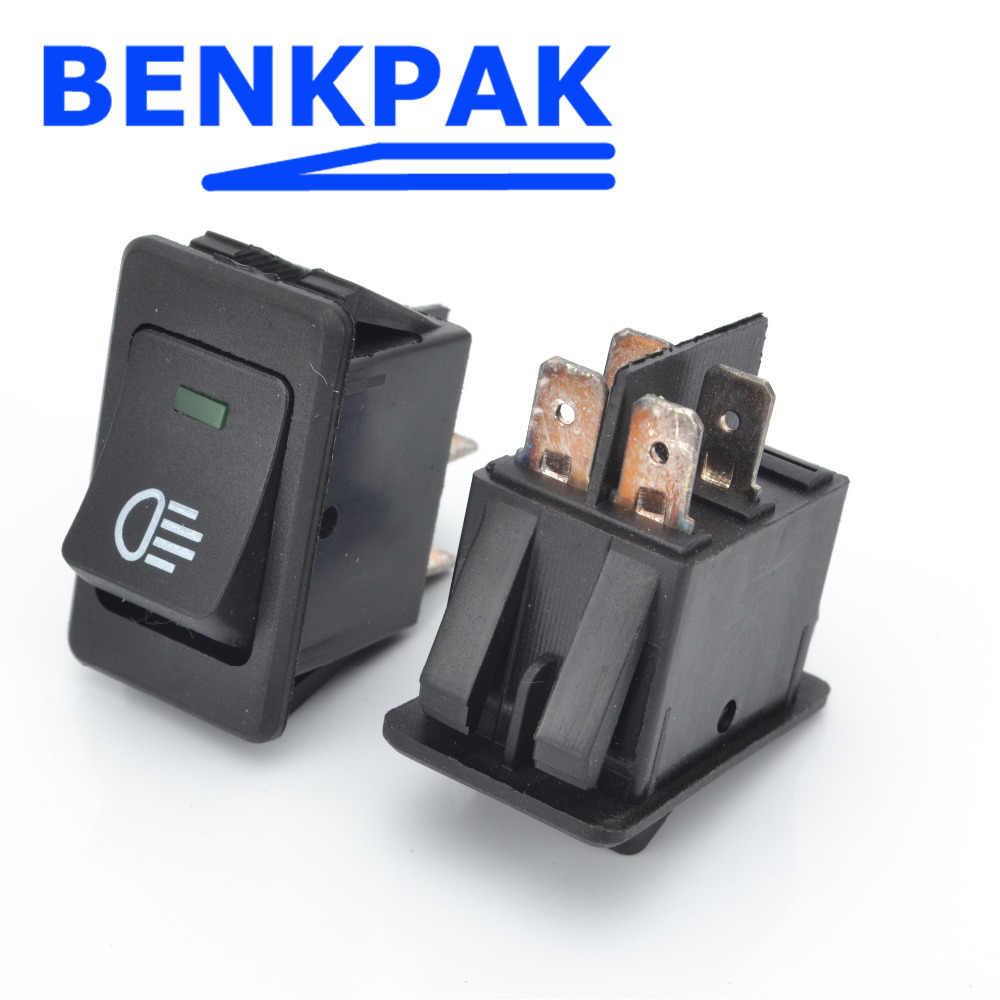 BENKPAK Universal Fog Light Lamp Rocker Switch LED For Car Truck Boat Dash Dashboard 12V 35A