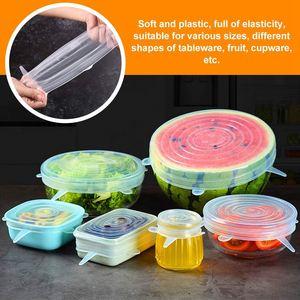 Image 5 - Tapas elásticas de silicona, paquete de 12 para mantener los alimentos frescos, reutilizables, duraderos y ampliables para adaptarse a varios tamaños para tapas de cuencos, P