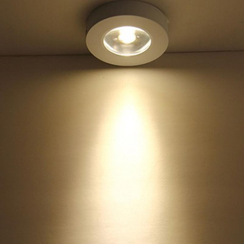 220V 3W LED Under Cabinet Light Wardrobe Closet Lamp