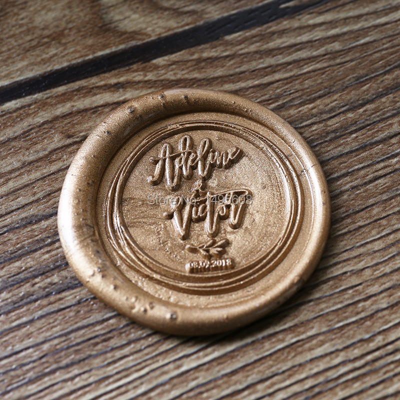 Custom Wedding wax seal stamp with name and date гель kapous professional after wax refreshing gel with menthol and camphor