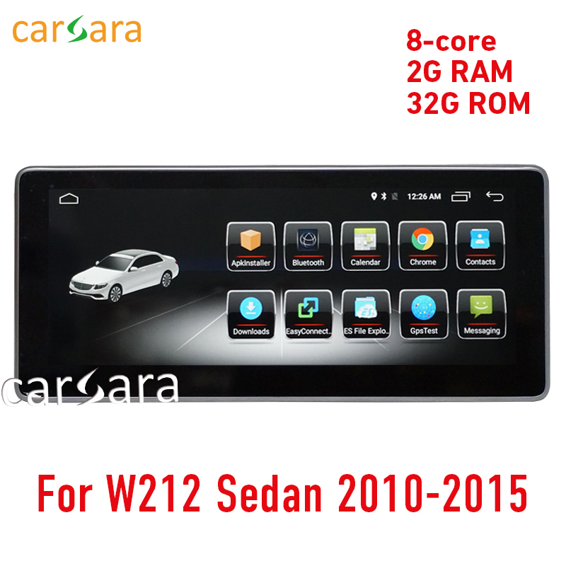 W212 touch screen Android head unit radio GPS Navigation stereo multimedia 10 15 2G RAM 10