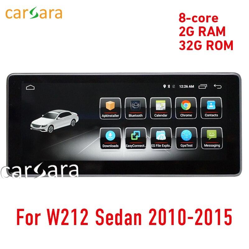 W212 touch screen Android cabeça unit radio stereo Navegação GPS multimedia 10-15 2G RAM 10.25 E200 E250 e300 E350 E400 E63 AMG