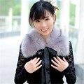 GOPLUS Inverno Faux Fur Marca Collar Novo 2016 Moda Mulheres Fox Lenço da pele de 60 cm de Comprimento Feminino Quente Vinho Branco Preto Vermelho Cinza lenços