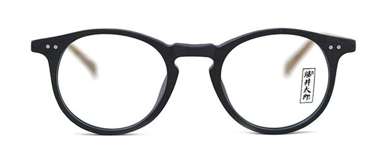 Image 5 - 60's Vintage Wood Brown Oval Eyeglass Frames Full Rim Hand Made Glasses Spectacles Men Women Myopia Rx able Brand New-in Men's Eyewear Frames from Apparel Accessories