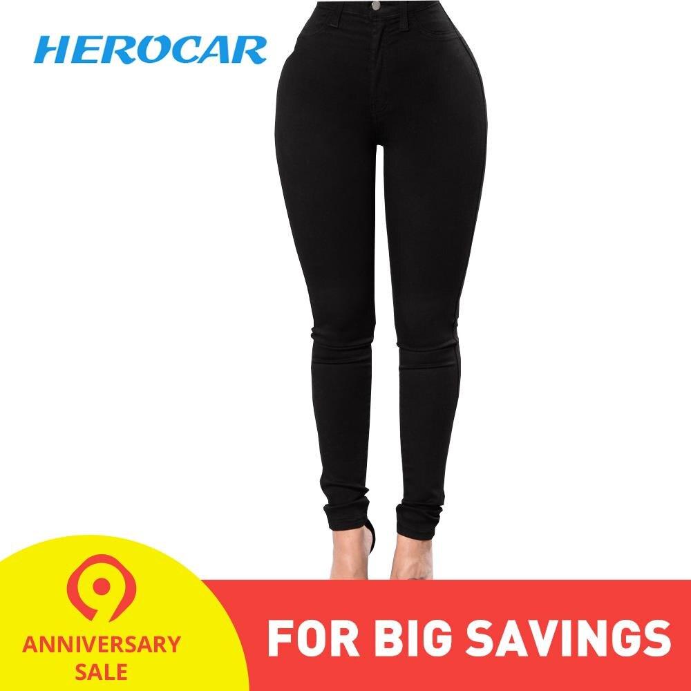 Moto Jeans Women Denim Pants Skinny Motorcycle Jeans Casual Trousers Black Pants Stretch Slim Moto Jeans