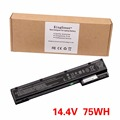 75WH Original Laptop Battery for HP EliteBook 8560w 8570w 8760w 8770w HSTNN-I93C HSTNN-IB2P HSTNN-LB2P VH08 VH08XL 632113-141