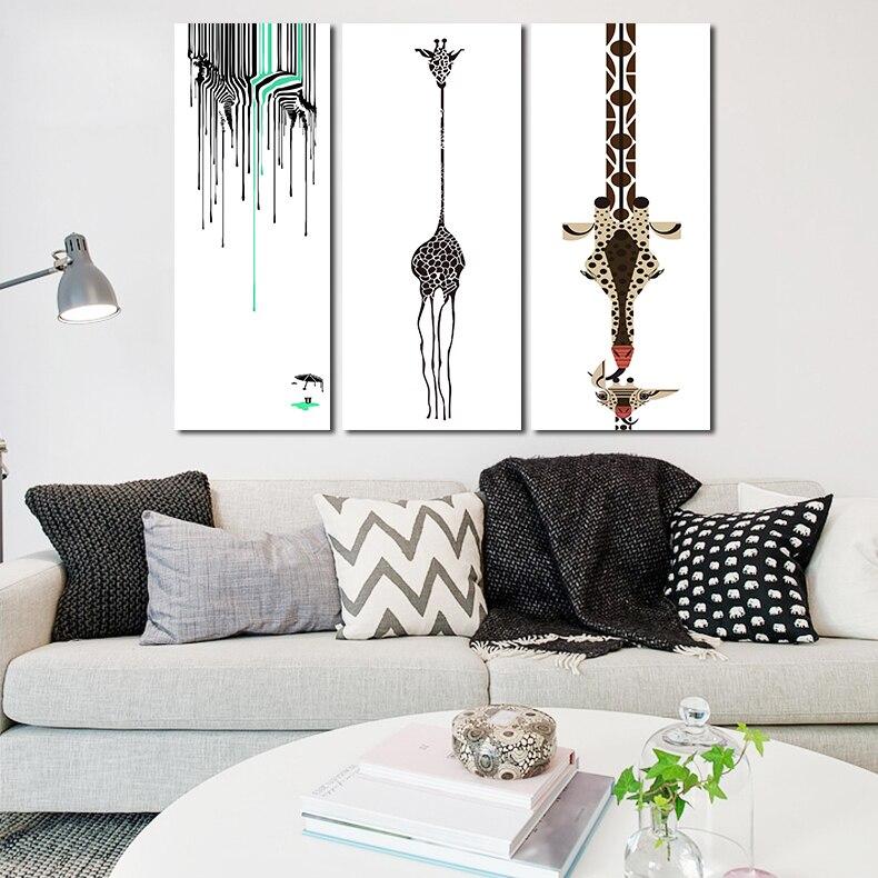 ✅Abstracto envío libre ciervos pintura moderna pared arte de la ...