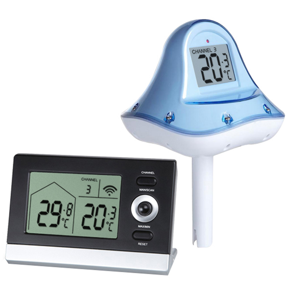 Digital Wireless Floating Thermometer -10 to 60 degree C (14 ~ 140 degree F) Range Swimming Pool Pond Spa professional wireless digital swimming pool spa floating thermometer wireless indoor and outdoor pool spa hot tub thermometer