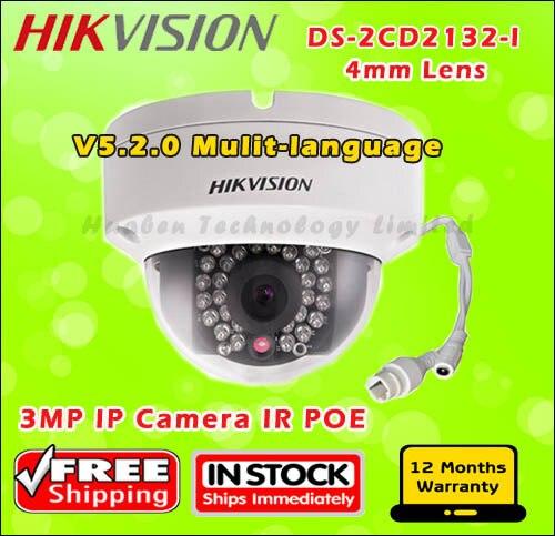Original Hikvision IP Camera DS 2CD2132 I 3MP high