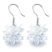 Original aesthetic earrings 925 pure silver earrings drop earring gentlewomen 203