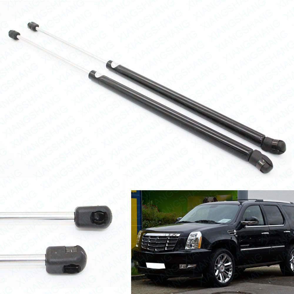 2pcs Auto Tailgate Hatch Boot Lift Supports Gas Struts Charged for Cadillac Escalade 2007-2013 GMC Tahoe Yukon XL 57.7 cm new 22911594 cable assy contact coil for gmc cadillac escalade for chevrolet tahoe 22911594
