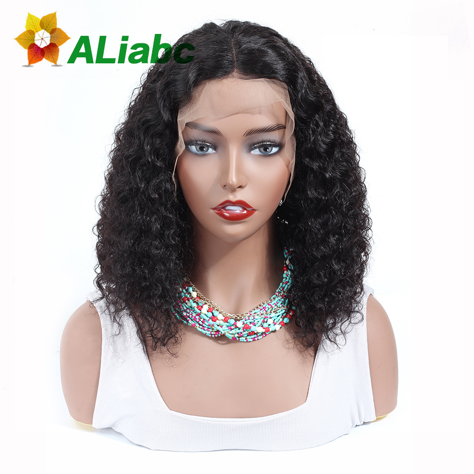Aliabc 13 4 Bob Wigs Malaysian Lace Front Human Hair Wigs For Black Women Natural Color