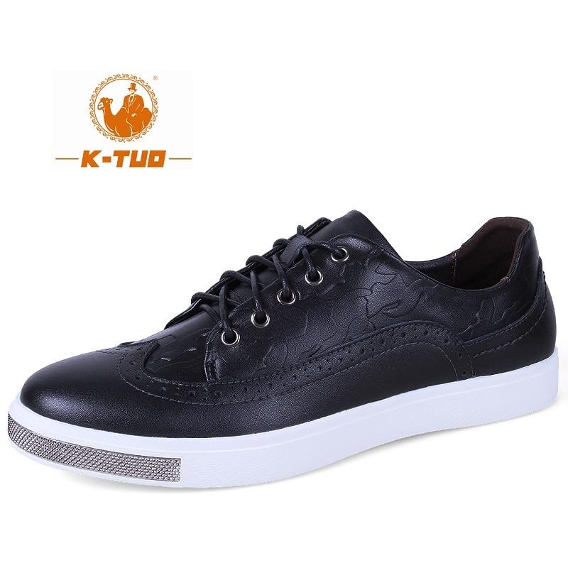 Prix pour K-TUO Nouvelle Arrivée Hommes Planche À Roulettes de Chaussures Étudiants Sport Véritable En Cuir Sneakers Hommes Planche À Roulettes Chaussures Hommes KT-9894