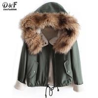 2013 Winter New Designer Fashion Women S Causal Fur Hooded Long Sleeve Drawstring Coat