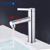 GAPPO 1set Top Quality Brass Solid Basin Sink Faucet Mixer Waterfall Torneira Tap Grifo Modern Style