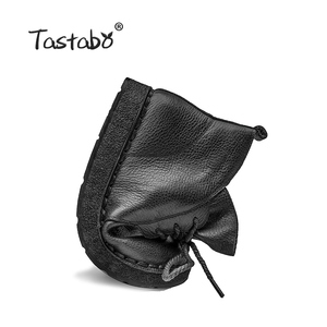 Image 3 - Tastabo Lace up Women Genuine Leather Ankle Shoes Flat with Vintage Lady Shoes Retro Solid Black Ankle Boots for Women