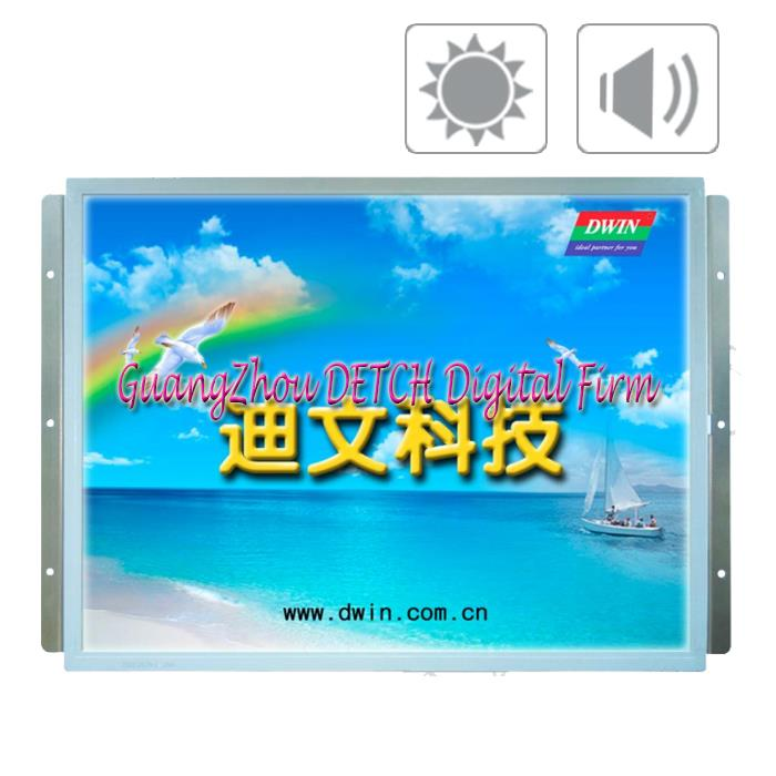 The 15 inch DMT10768T150 03WN DGUS LCD screen serial Devin industrial configuration non touch screen