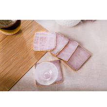 2pcs/pack pink onyx agate coaster gold inlay mats pads jewelry pad agate slice sample show board natural stone crafts pink цены