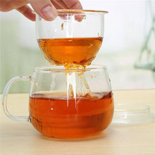 320ML Clear Heat Resistant Teapot Tea Cup Coffee Cup With Tea Infuser