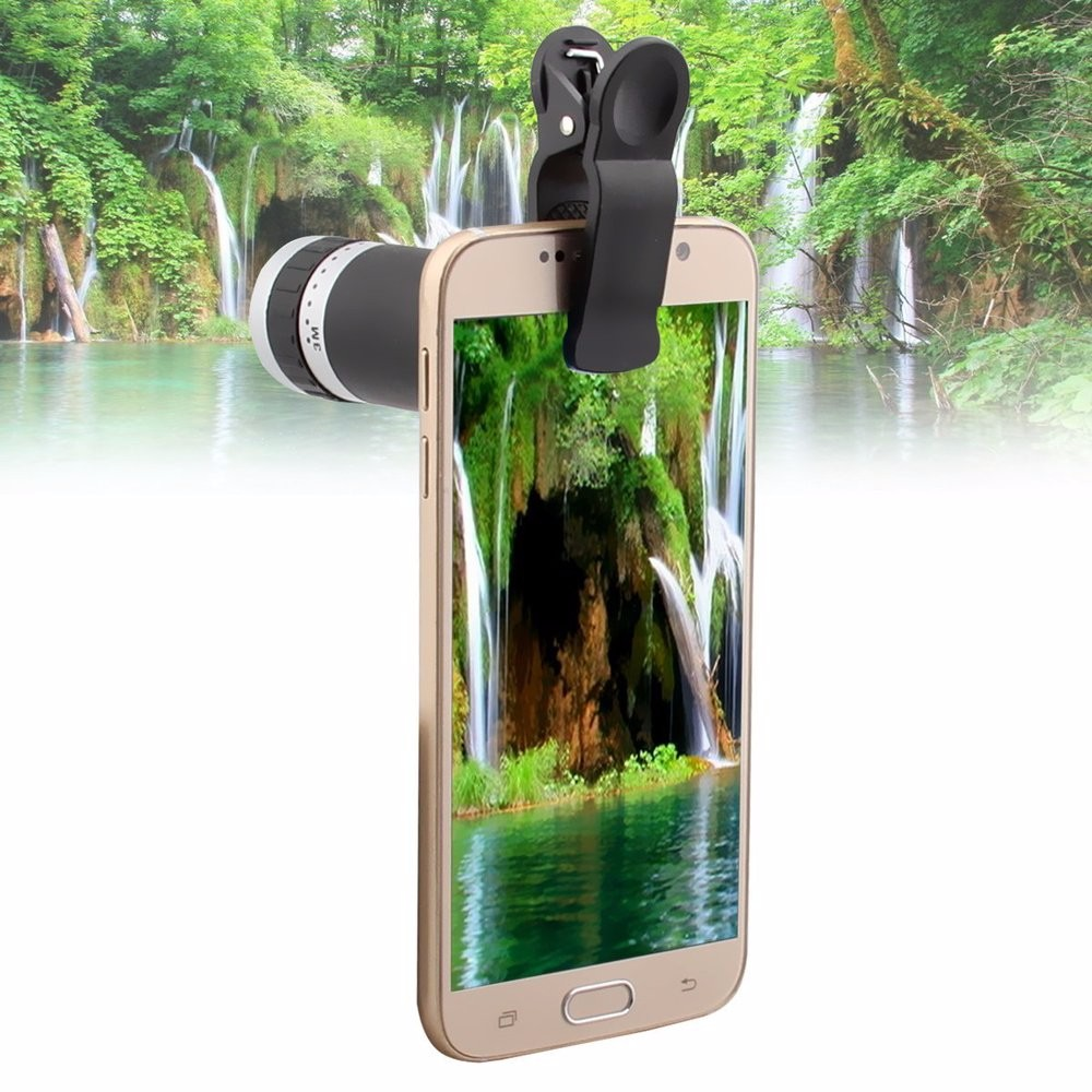 YFT Universal Smart Phone Camera lens For iPhone 8X Zoom Telephoto Lens 3in1 Fisheye Lens Wide Angle Macro Lens Tripod Bluetooth 3
