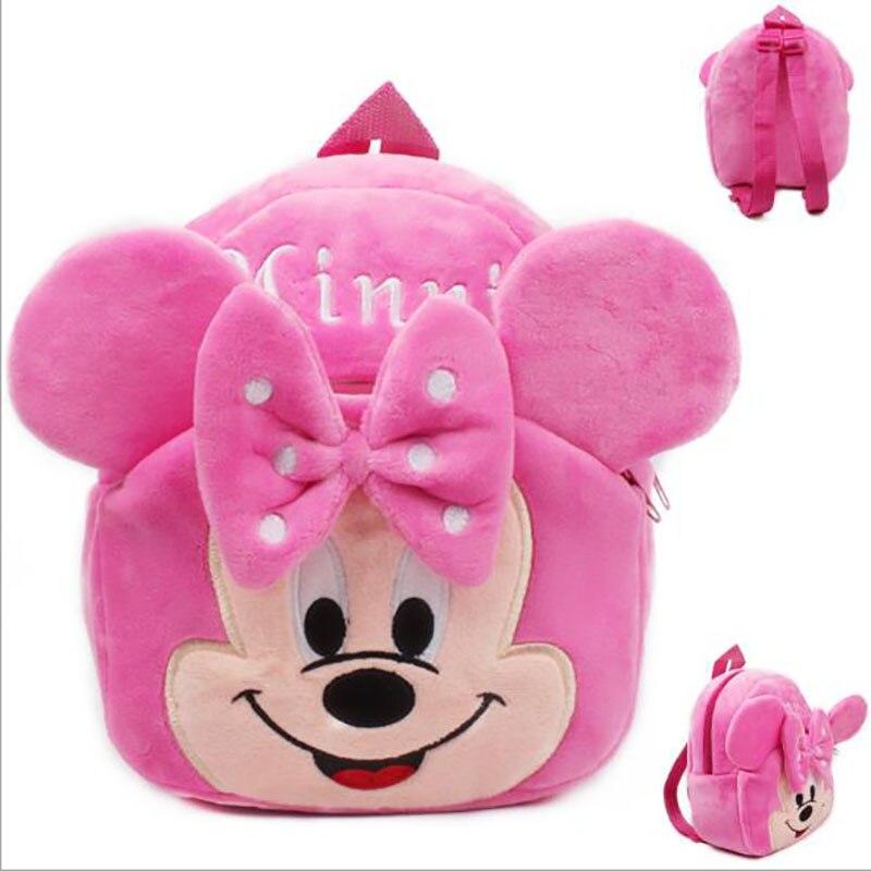 New 2017 21*23cm Minnie Kid Plush Backpack Children School Bag For Girl Boy Student Schoolbag Baby Cute Mini Bags Free Shipping