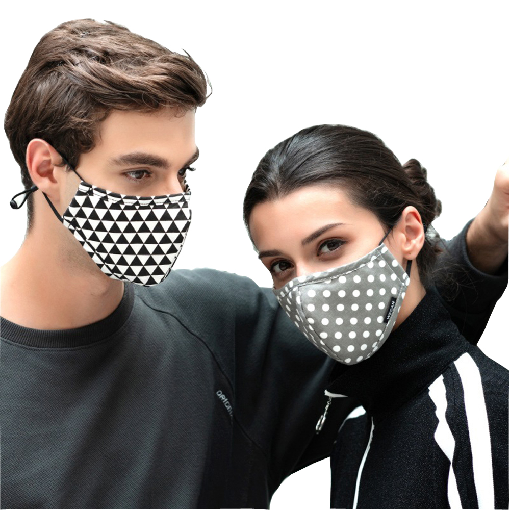 Washab Cotton Anti Dust Flu Face Mouth Mask with Activated Carbon Filter for Winter Running Medical KN95 Anti PM2.5 Black Mask mouth mask with glasses