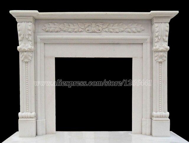 Mensola del camino di marmo telaio surround Inglese in stile ...