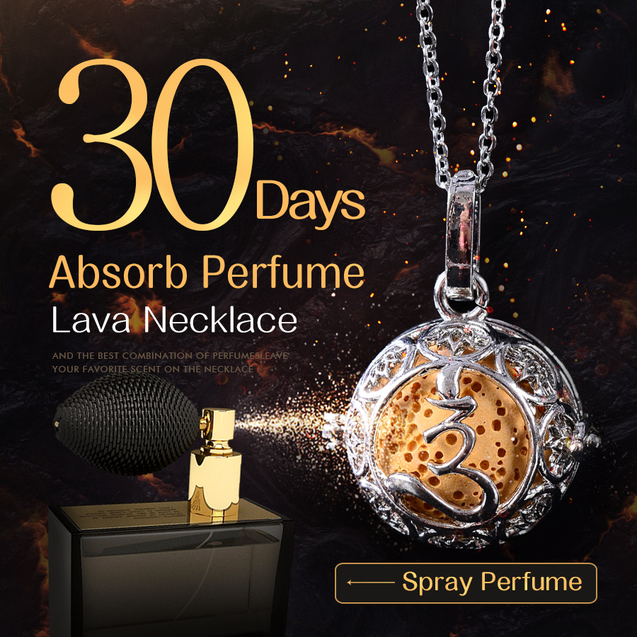 45cm Accessories Lava Necklace Pendant Volcanic Stone Chain