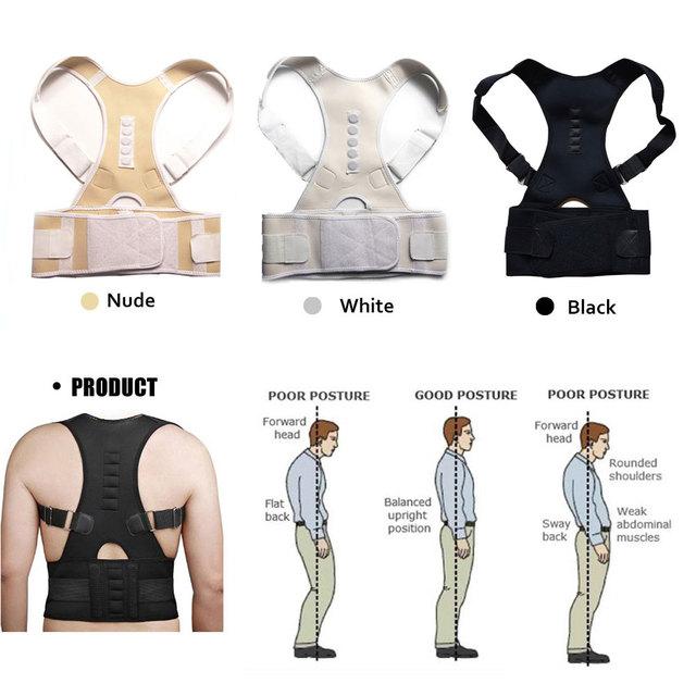 Magnetic Therapy Posture Corrector Brace Shoulder Back Support Belt