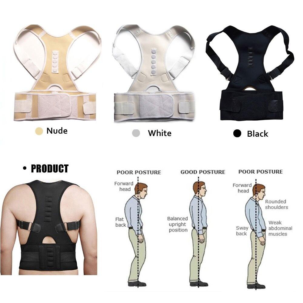 Aptoco terapia magnética postura Corrector Brace hombro espalda cinturón para hombres mujeres brazaletes y soportes cinturón hombro postura
