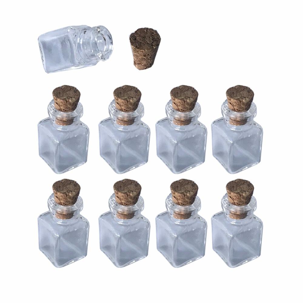 Mini Glas Flaschen Anhänger Rechteck Transparent Flaschen Mit Kork Littles Gläser Für Geschenk Anhänger 20 Teile/los Freies Verschiffen Diversifizierte Neueste Designs Haus & Garten