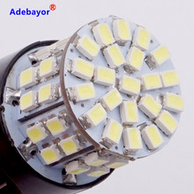 1 X T20 7443 W21/5W de la luz de freno bombillas 3020 50 LED 1206 SMD intensidad Dual Torre cola parada señal de luz de marcha atrás blanco Adebayor