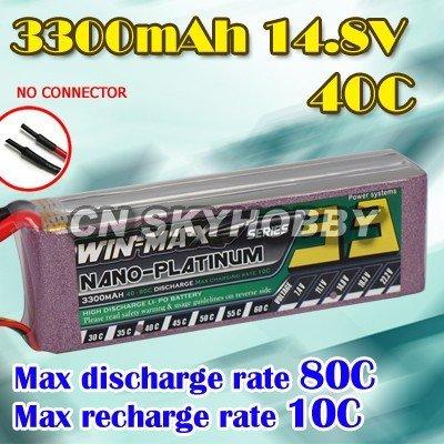 WinMax 3300mAh 14.8V 40C lipo battery-1224683