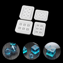 1PC DIY Silicone Bead Mold Round Square Shape Handmade Jewelry Making Hand Craft Jewellery Tools(China)