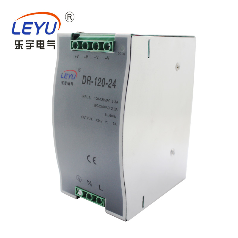 цена на CE RoHS Approved 24v 5A din rail power supply DR-120-24 din rail smps