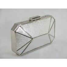 8607เงินเลดี้แฟชั่นงานแต่งงานเจ้าสาวp Arty Nightคลัทช์กระเป๋าแปดเหลี่ยมกระเป๋าถือกระเป๋าเงินเย็นกรณีกล่องในการจัดส่งฟรี