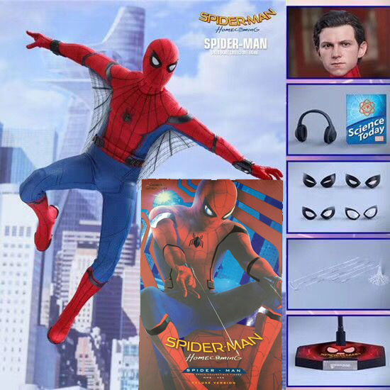 12inch HC Hot Toys Compatible Marvel Avengers Spiderman Hero BJD Joints Moveable Action Figure Model Toy Gift
