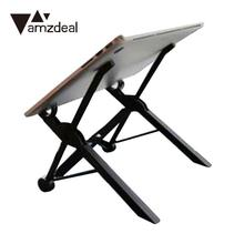 AmzdealFolding Ordinateur Portable Stand Portable Support Pour Ordinateur Portable BedHeight Réglable Pliant Stand Support DesktopFor MacBook Tableau lapdesk